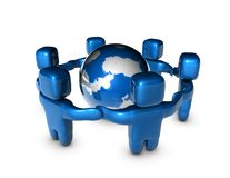 国际企业队概念摘要例证 免版税库存照片