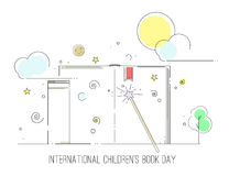 国际儿童` s书天 免版税库存照片