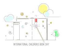 国际儿童` s书天 免版税库存图片
