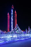 国际冰和雪雕节日,哈尔滨,中国 免版税库存图片