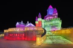 国际冰和雪雕节日,哈尔滨,中国 免版税图库摄影