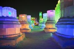 国际冰和雪雕节日,哈尔滨,中国 库存照片