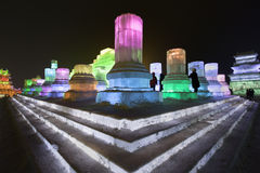 国际冰和雪雕节日,哈尔滨,中国 库存图片
