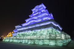 国际冰和雪雕节日,哈尔滨,中国 图库摄影