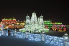 国际冰和雪雕节日,哈尔滨,中国 免版税库存照片