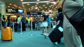 国际到来大厅机场终端  股票视频