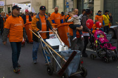 国际劳动节在柏林 免版税库存照片