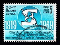国际劳工组织, serie,大约1969年 库存照片