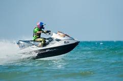国际和地方PWC车手的旅游业活动在赛跑的行动的 图库摄影