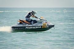 国际和地方PWC车手的旅游业活动在赛跑的行动的 免版税库存照片