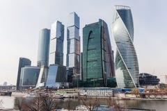 国际商业中心现代建筑学摩天大楼在莫斯科市的 免版税图库摄影