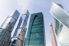 国际商业中心现代建筑学摩天大楼在莫斯科市的 免版税库存图片