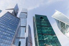 国际商业中心现代建筑学摩天大楼在莫斯科市的 库存图片