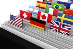国际商业客户数据目录 皇族释放例证