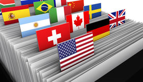 国际商业客户文件目录 皇族释放例证