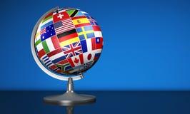国际商务语言学校地球 库存例证