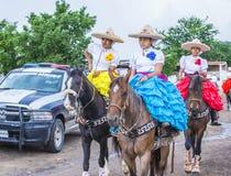 国际墨西哥流浪乐队& Charros节日 库存图片