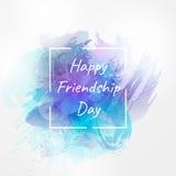 国际天的传染媒介例证友谊 愉快日的友谊 设计海报的,横幅, flayer模板 图库摄影