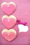 国际妇女天,曲奇饼3月8日,心脏形状 免版税库存图片
