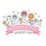 国际妇女节的贺卡 库存照片