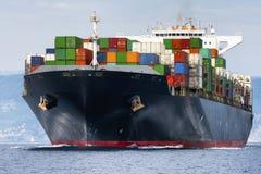 国际容器货船 库存图片