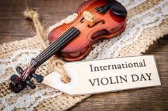 国际小提琴天 库存图片
