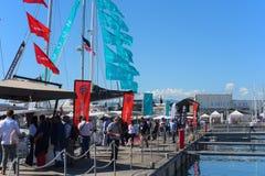 国际小船展示的热那亚第57编辑 库存照片
