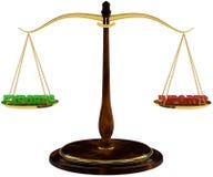 国际市场平衡  免版税库存照片