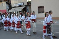10国际性组织民间传说节日Lukavac 2016年 库存照片
