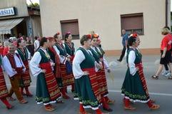 10国际性组织民间传说节日Lukavac 2016年 免版税库存照片