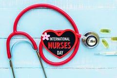 国际护士节, 5月12日 医疗保健和医疗概念 库存照片