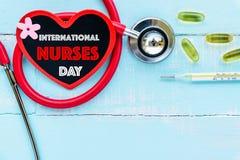 国际护士节, 5月12日 医疗保健和医疗概念 免版税库存照片