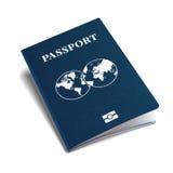 国际护照蓝色盖子等量3d传染媒介模板 库存图片