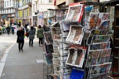 国际报纸封面  免版税库存图片