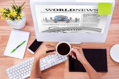 国际报纸的综合图象 免版税图库摄影