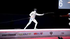 国际操刀的比赛圣彼德堡箔2015年 影视素材