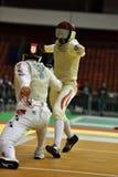 国际操刀的比赛圣彼德堡箔2015年 库存照片