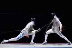 国际操刀的比赛圣彼德堡箔2015年 免版税库存照片