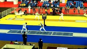 国际操刀的比赛圣彼德堡箔2015年 股票视频
