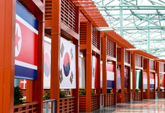 国际旗子 免版税图库摄影