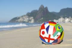 国际旗标橄榄球里约热内卢巴西 免版税库存图片