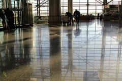 国际机场伏努科沃莫斯科- 2017年7月的内部空间 库存照片