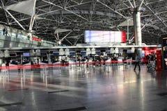 国际机场伏努科沃莫斯科- 2017年7月的内部空间 免版税库存图片