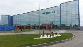 国际机场的新的终端在伏尔加格勒 库存照片