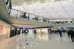 国际机场看法在香港 免版税图库摄影