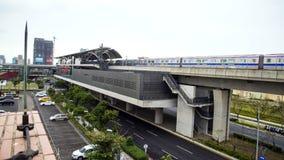 国际机场通入MRT系统 库存图片