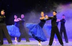 国际标准舞蹈这校园展示 免版税库存图片