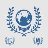 国际标志握手 免版税库存图片