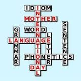 国际母语天卡片 库存照片