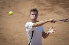 国际比赛的网球员 库存图片